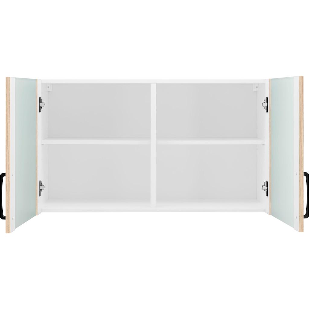 wiho Küchen Glashängeschrank »Esbo«, Front mit Glaseinsatz