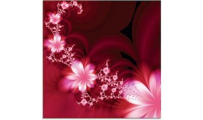 Artland Glasbild »Girlande aus Blumen« kaufen