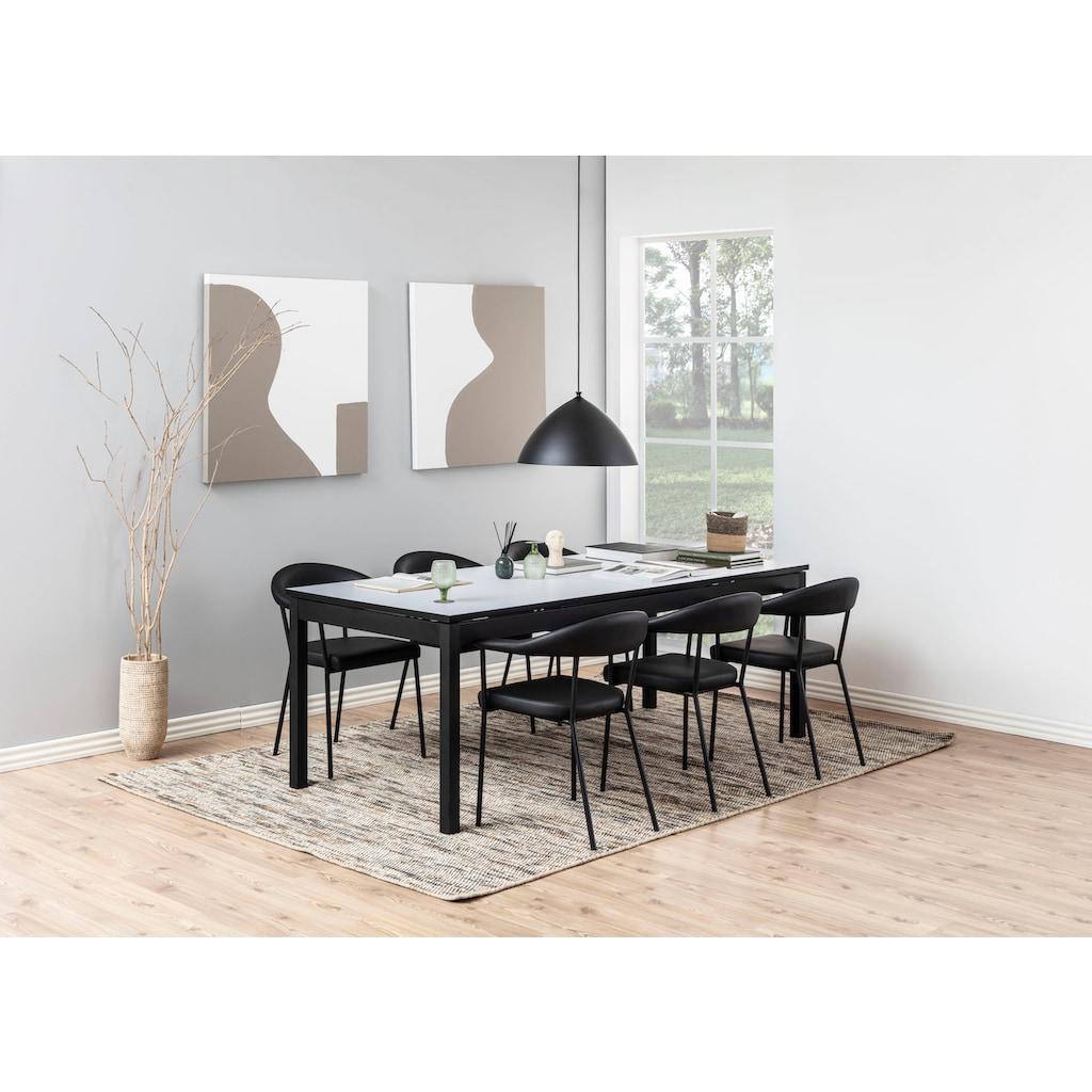 andas Esszimmerstuhl »Alice«, aus schönem Kunstleder Bezug, schwarze Metallbeine, Sitzhöhe 48 cm