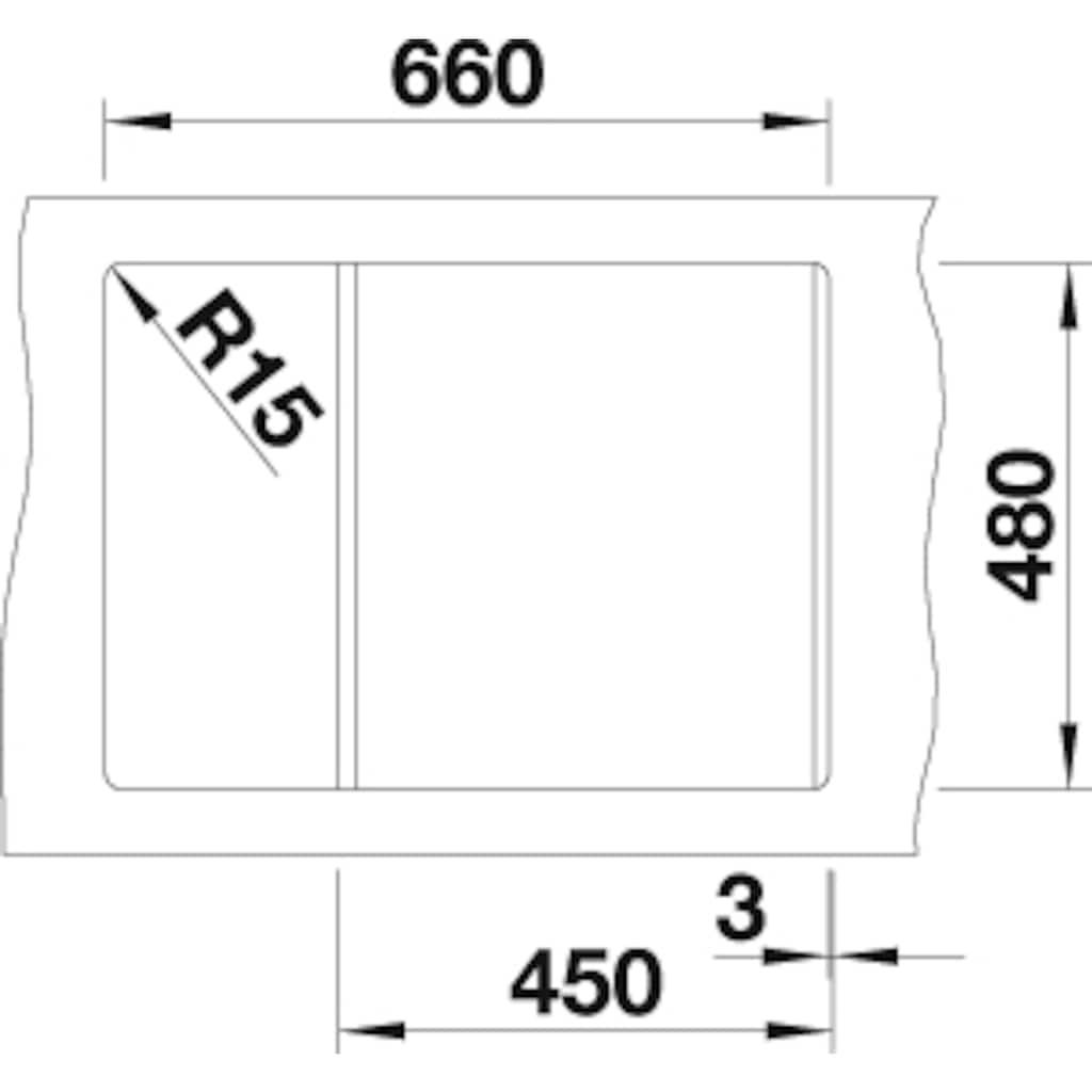 Blanco Granitspüle »METRA 45 S Compact«, aus SILGRANIT®