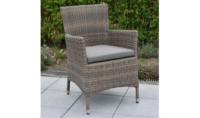 MERXX Gartensessel »Teneriffa«, 2er Set, Polyrattan, inkl. Sitzkissen kaufen