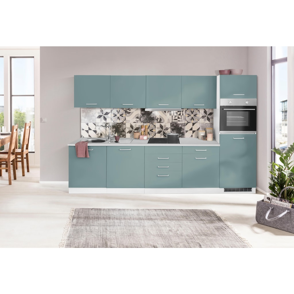 HELD MÖBEL Küchenzeile »Visby«, mit E-Geräten, Breite 300 cm