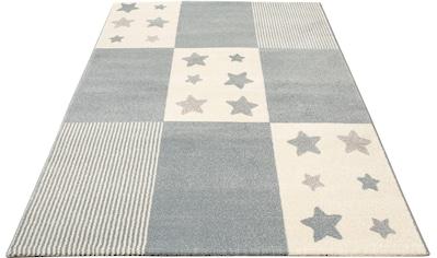 Lüttenhütt Kinderteppich »Tilly«, rechteckig, 14 mm Höhe, Motiv Sterne, Pastellfarben kaufen