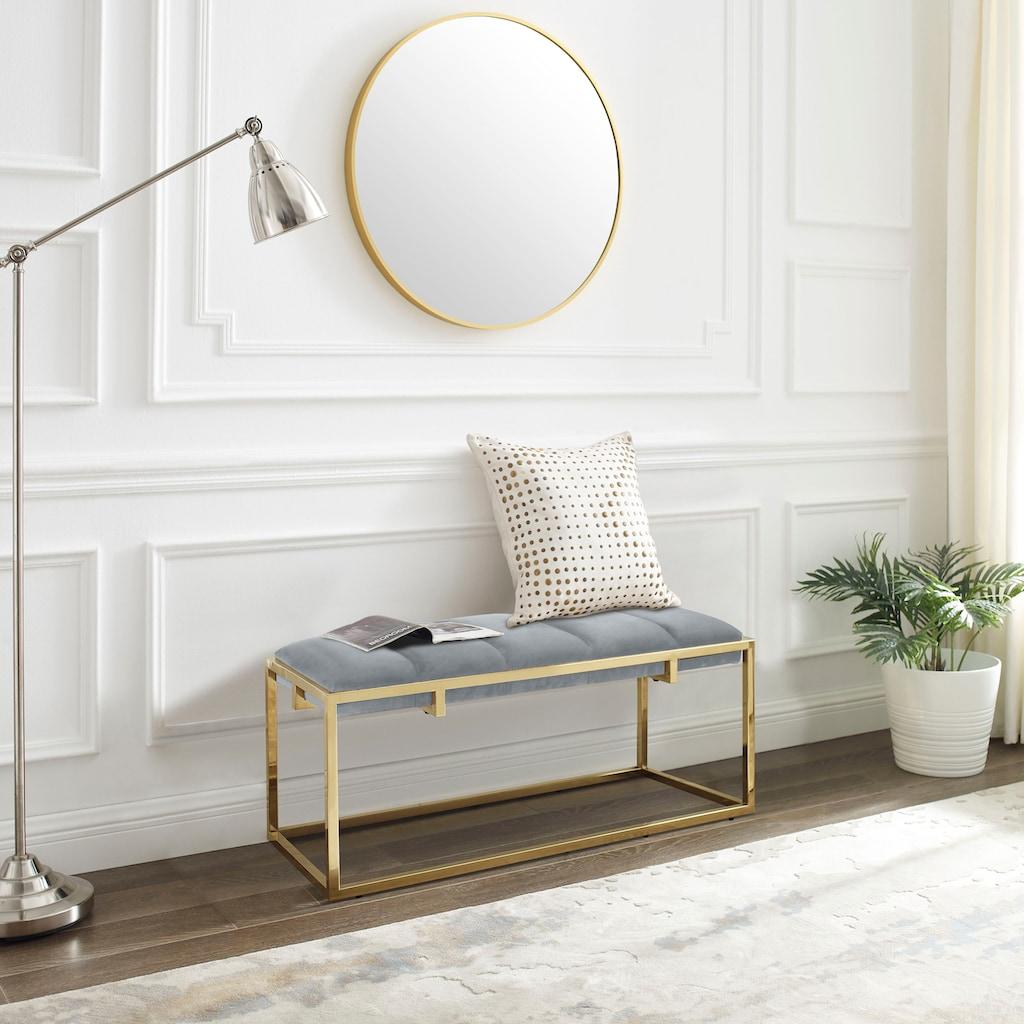 Leonique Bettbank »Ciaran«, in 3 Farben und 3 Größen erhältlich, Gestell aus Edelstahl, Sitzfläche gepolstert, Sitzbank, auch als Garderobenbank geeignet