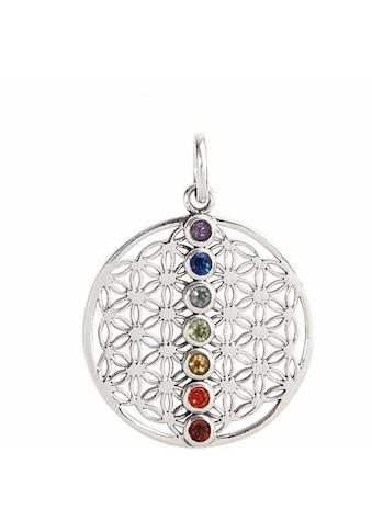 Vivance Kettenanhänger »925/- Sterling Silber mit echten Steinen«, Anhänger kaufen