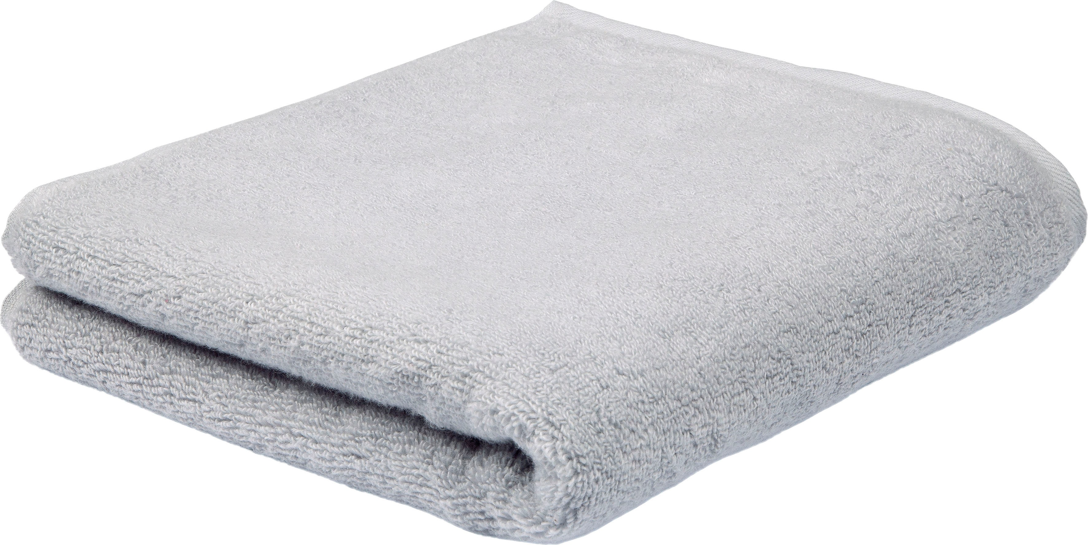 ROSS Handtuch Sensual Skin, (2 St.), mit Aloe Vera veredelt grau Handtücher Badetücher