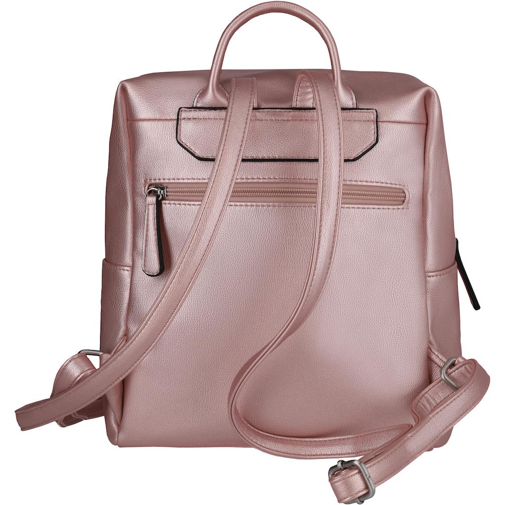 TITAN® Cityrucksack »Spotlight Zip, Metallic Pink«