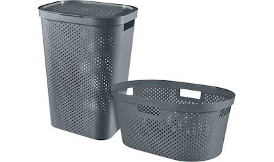 Curver Wäschekorb »INFINITY RECYCLING«, (Set, 2 St.), Wäschebox 60L + Wäschekorb 40L kaufen