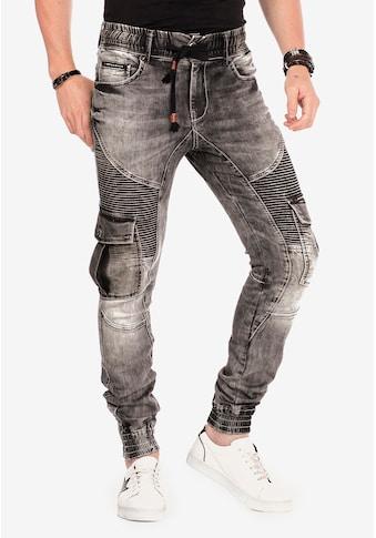 Cipo & Baxx Slim-fit-Jeans, mit elastischen Bündchen am Saum kaufen