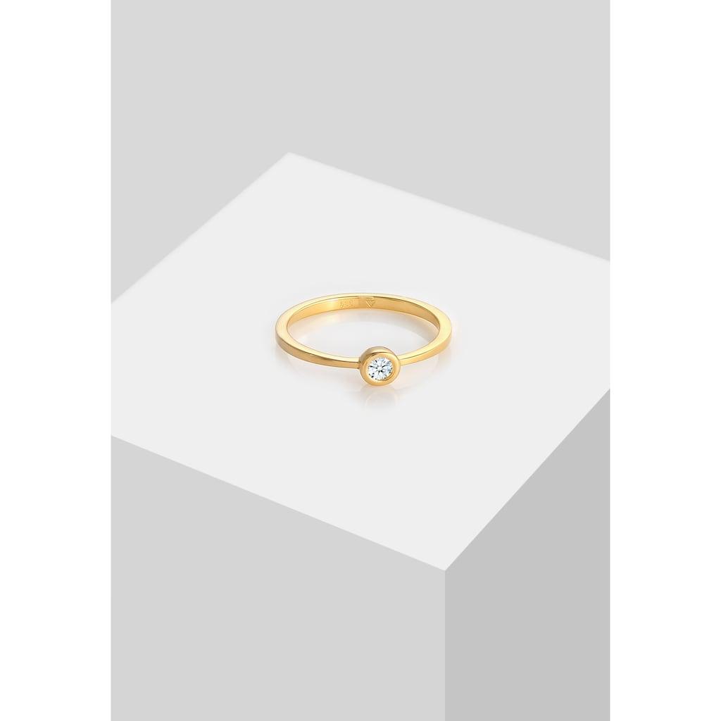 Diamore Verlobungsring »Verlobung Solitär Diamant 0.06 ct. 585 Gelbgold«