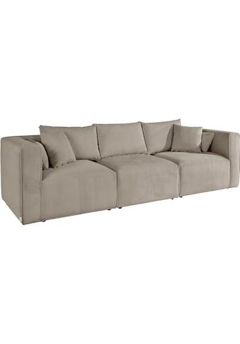 Guido Maria Kretschmer Home&Living 3-Sitzer »Comfine«, zusammengesetzt aus Modulen, in 3 Bezugsqualitäten und vielen Farben möglich, Bezug auch in Luxus-Microfaser in Teddyfelloptik kaufen