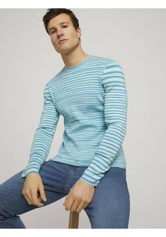 TOM TAILOR Rundhalspullover »Sweatshirt in Melange-Optik« kaufen