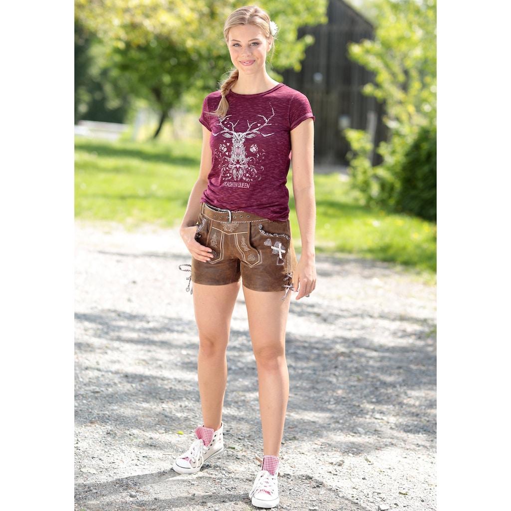 Hangowear Trachtenshirt, mit Hirschdruck