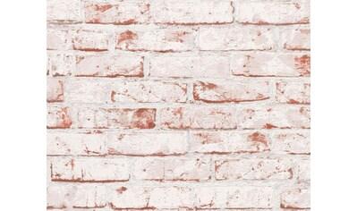 LIVINGWALLS Vliestapete »Bruchsteinmauer«, in Backsteinoptik kaufen