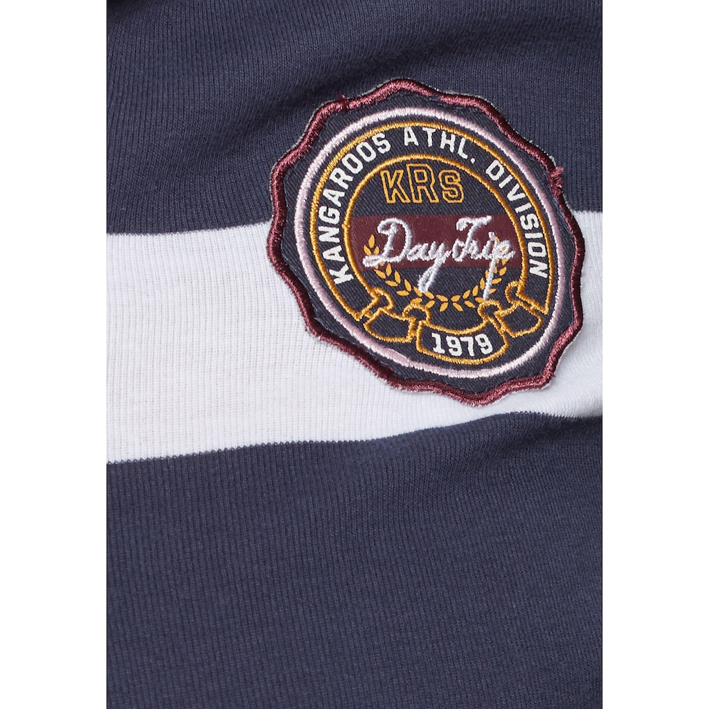 KangaROOS Langarmshirt, mit Kragen