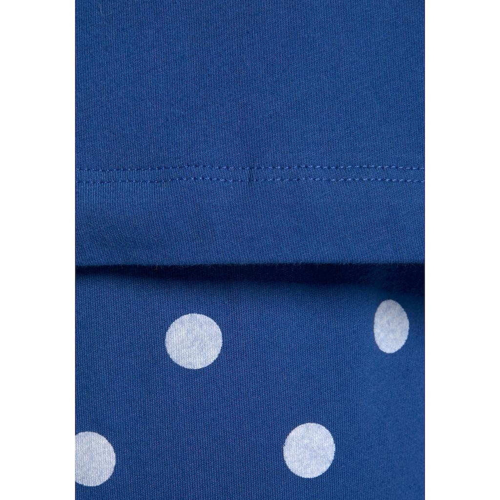 Peanuts Pyjama, mit Snoopy-Druck und Pünktchen-Hose