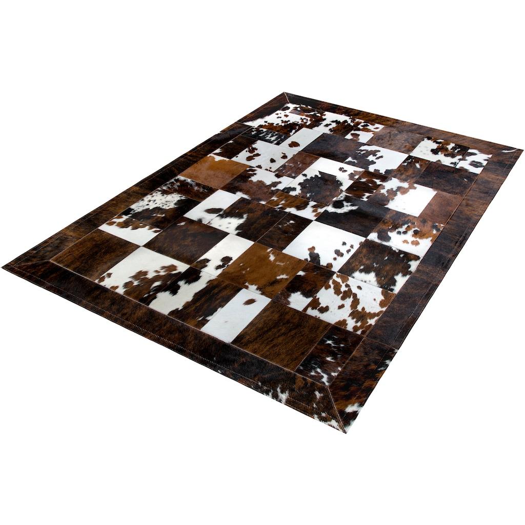 Trendline Fellteppich »Galera«, rechteckig, 3 mm Höhe, Patchwork, handgenäht, echtes Rinderfell, Wohnzimmer