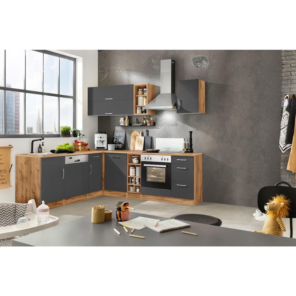 HELD MÖBEL Winkelküche »Colmar«, ohne E-Geräte, Stellbreite 210/240 cm