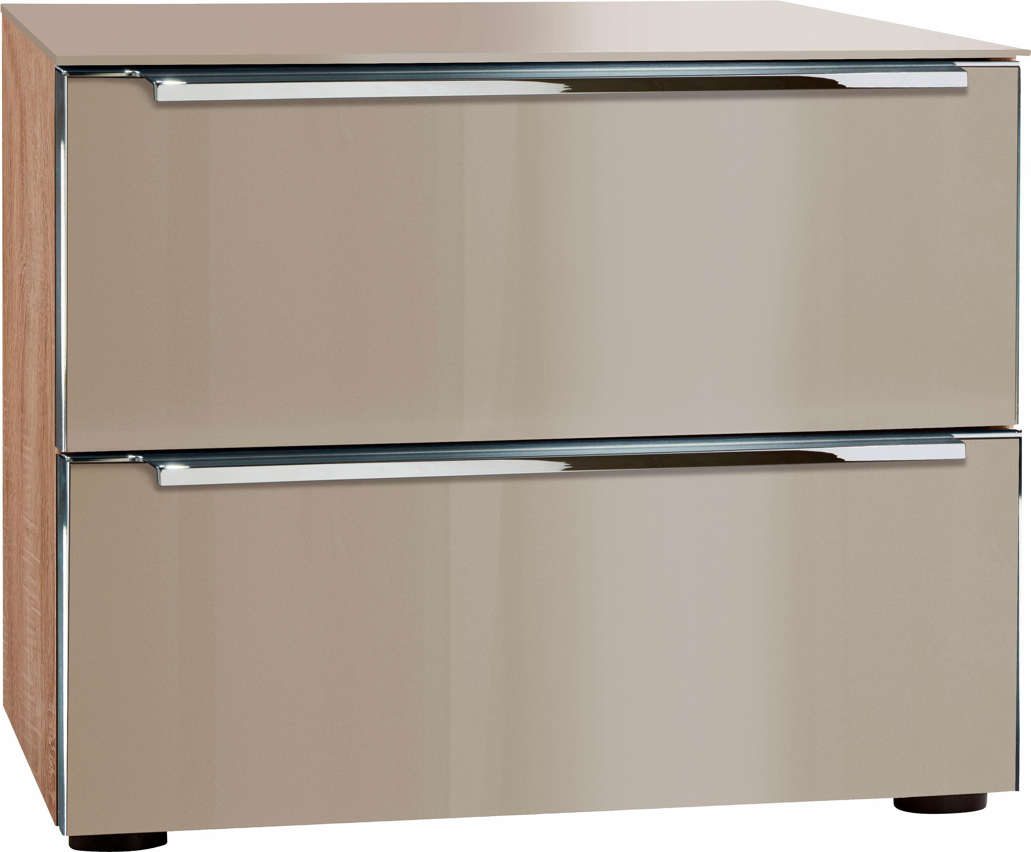 nolte® Möbel Nachttisch»Alegro Style«, Breite 50 cm | Schlafzimmer > Nachttische | Braun | Nussbaum - Glas | NOLTE® MÖBEL