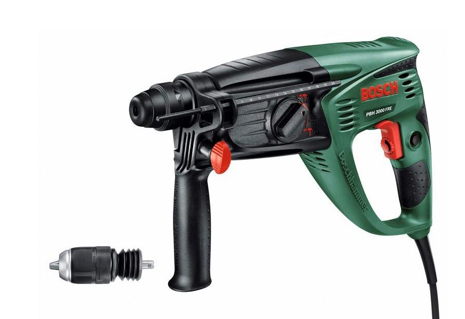 BOSCH Bohrhammer PBH 3000 FRE grün Bohrhämmer Werkzeug Maschinen