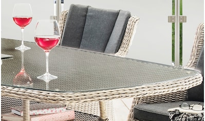 Destiny Essgruppe »LUNA«, (Set, 13 tlg.), 4 Sessel und Tisch, pflegeleichtes... kaufen
