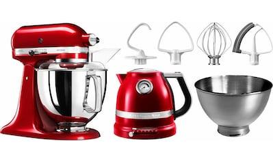 KitchenAid Küchenmaschine Artisan 5KSM175PSECA mit Gratis Wasserkocher, 2. Schüssel, Flexirührer, 300 Watt, Schüssel 4,8 Liter kaufen
