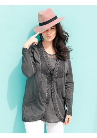 MIAMODA Shirtjacke, mit femininen Spitzendetails kaufen