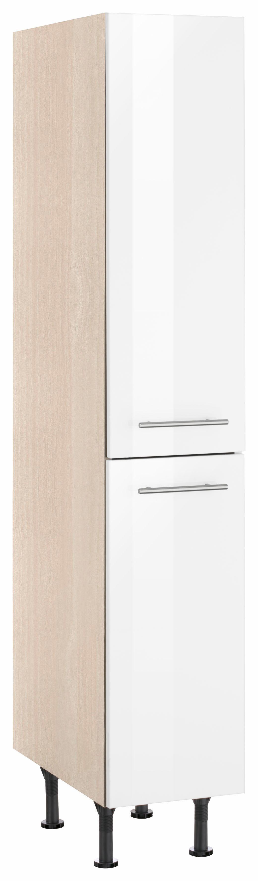 OPTIFIT Apothekerschrank Bern   Küche und Esszimmer > Küchenschränke > Apothekerschränke   Weiß   Nachbildung - Edelstahl - Melamin   Optifit
