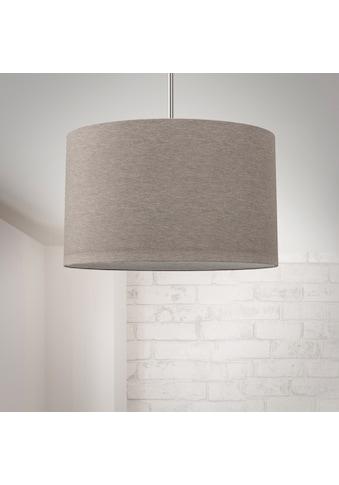 B.K.Licht Pendelleuchte, E27, Hängeleuchte, LED Pendelampe Stoff Textilschirm Hängelampe Decke Esstisch Wohnzimmer E27 taupe kaufen