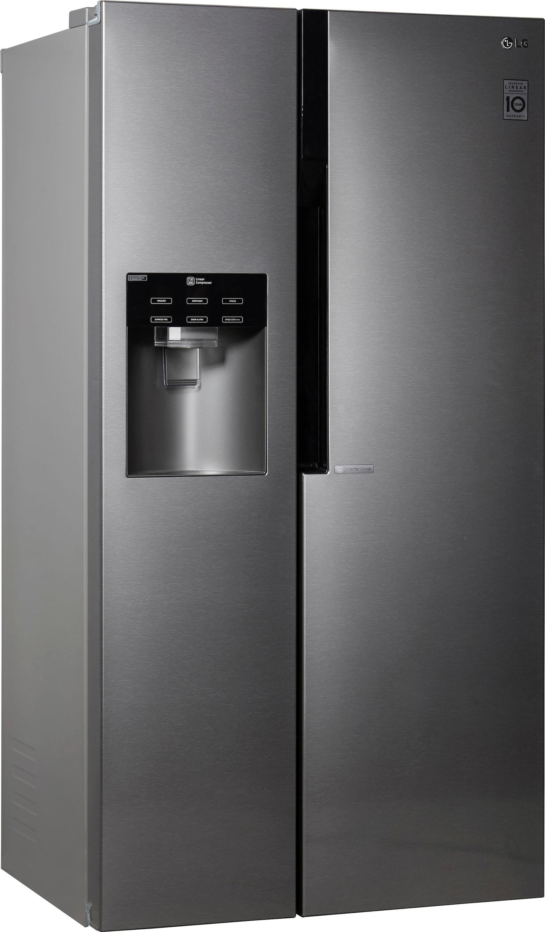Amerikanischer Kühlschrank Von Lg : Lg side by side cm hoch cm breit online kaufen baur