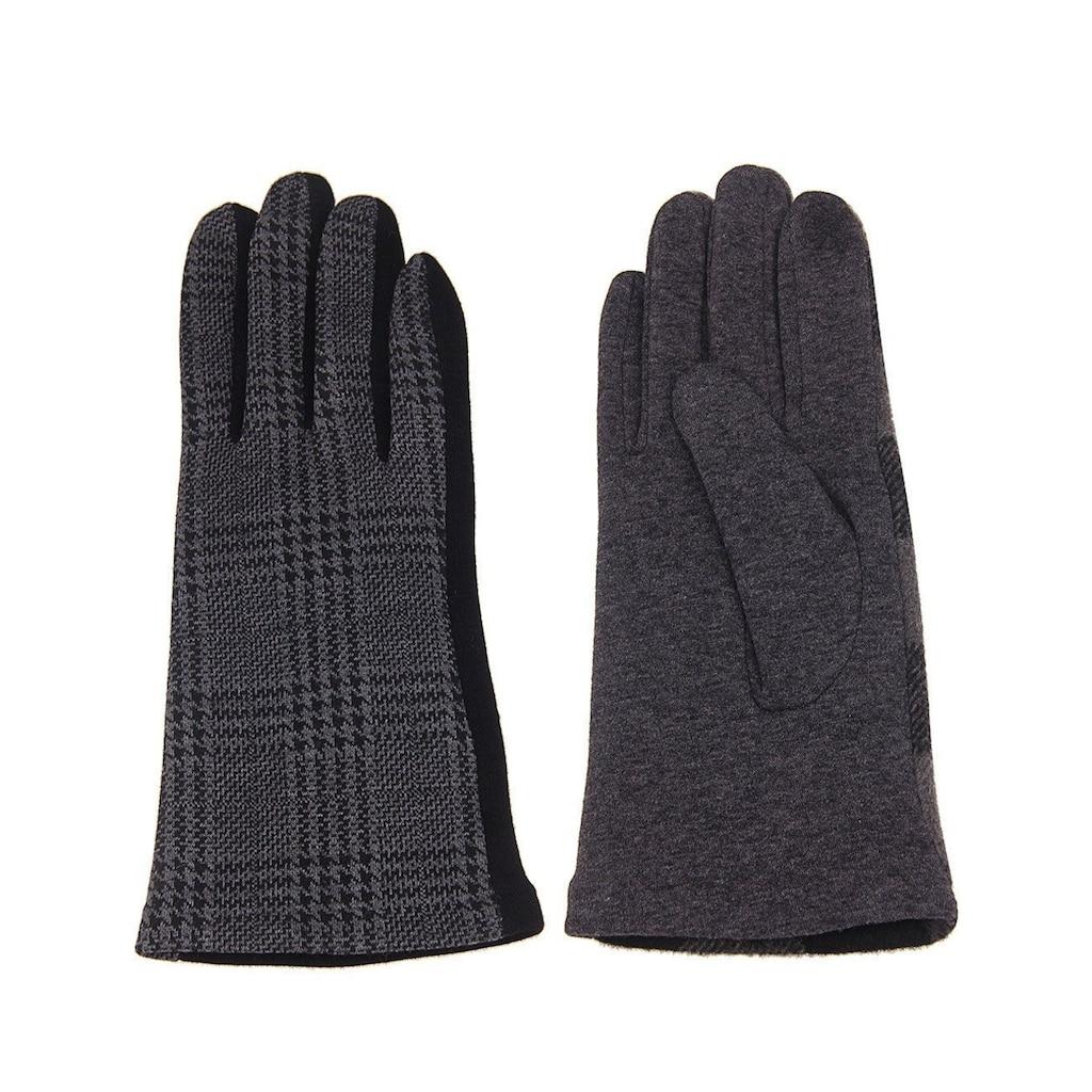 leslii Handschuhe mit elegantem Karo-Muster