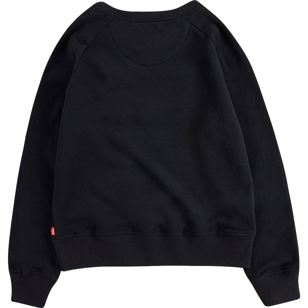 Levi's Kidswear Sweatshirt, mit Logo-Applikation in Leo-Optik