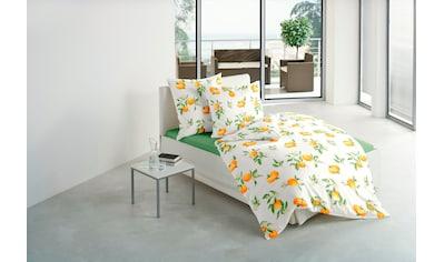 BIERBAUM Bettwäsche »Orange«, mit leuchtenden Orangen kaufen