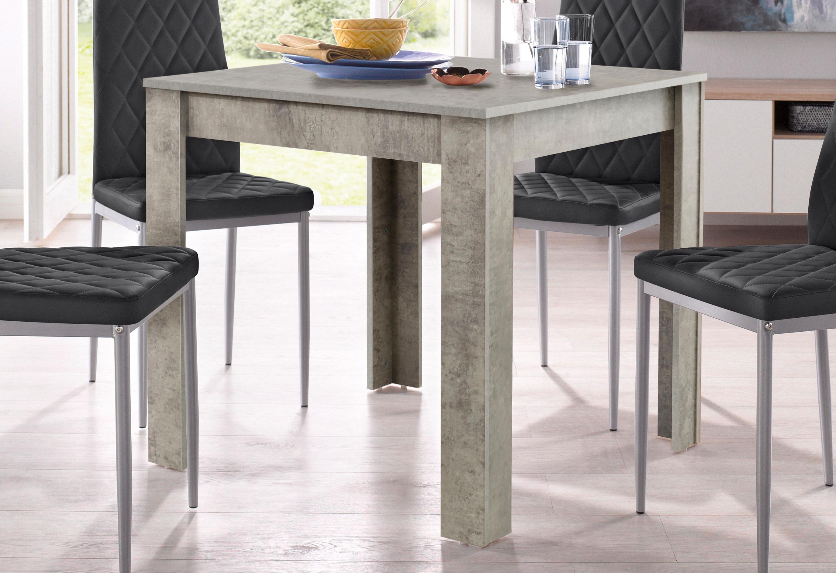 my home Esstisch Lynn, Breite 80 cm grau Esstische quadratisch Tische