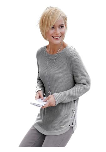 Casual Looks Pullover mit Schnürungen und Ösen seitlich verziert kaufen