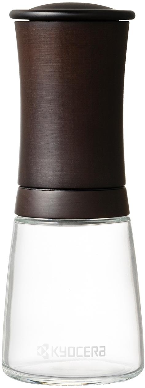 KYOCERA Salz-/Pfeffermühle, Keramik-Mahlwerk, mit Holz-Top für Kräuter und Gewürze braun Salz-/Pfeffermühle Salzmühlen Pfeffermühlen Kochen Backen Haushaltswaren