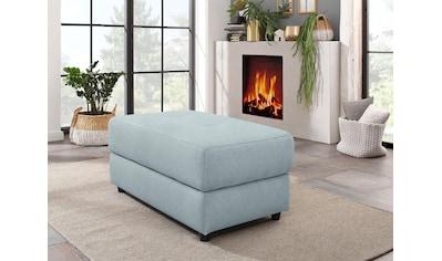 Home affaire Polsterhocker »Sentrano«, in 4 hochwertigen Bezugsqualitäten erhältlich, mit komfortablen Federkern, Gesamtbreite 99 cm kaufen