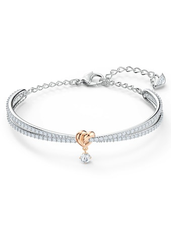Swarovski Armreif »Lifelong Heart, weiss, Metallmix, 5516544«, mit Swarovski® Kristallen kaufen