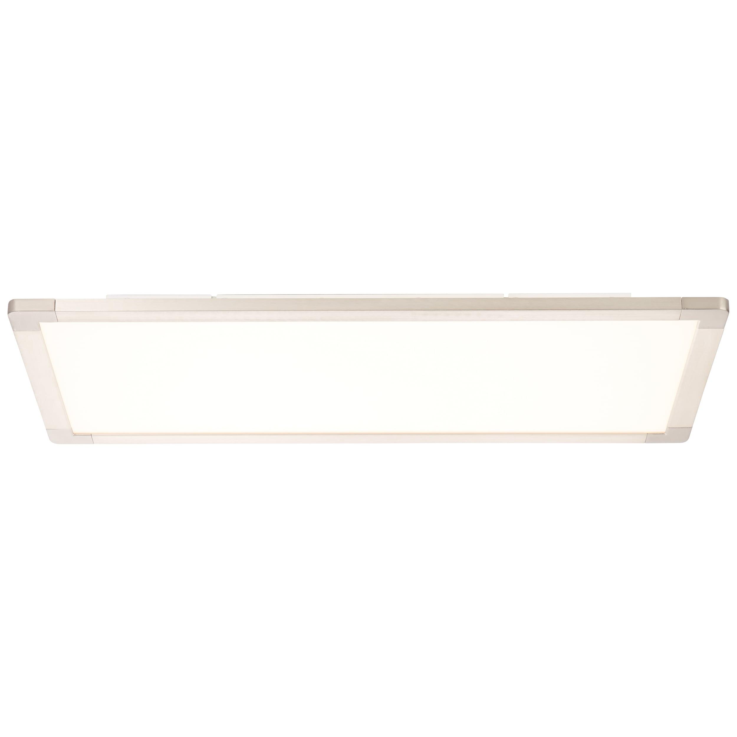 Brilliant Leuchten Smooth LED Deckenaufbau-Paneel 120x30cm silber/weiß easyDim