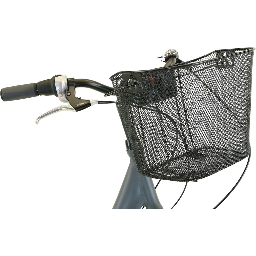 HAWK Bikes Cityrad »HAWK City Comfort Deluxe Plus Grey«, 7 Gang, Shimano, Nexus Schaltwerk