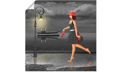 Artland Wandbild »Tanzen im Regen«, Frau, (1 St.), in vielen Größen & Produktarten -... kaufen
