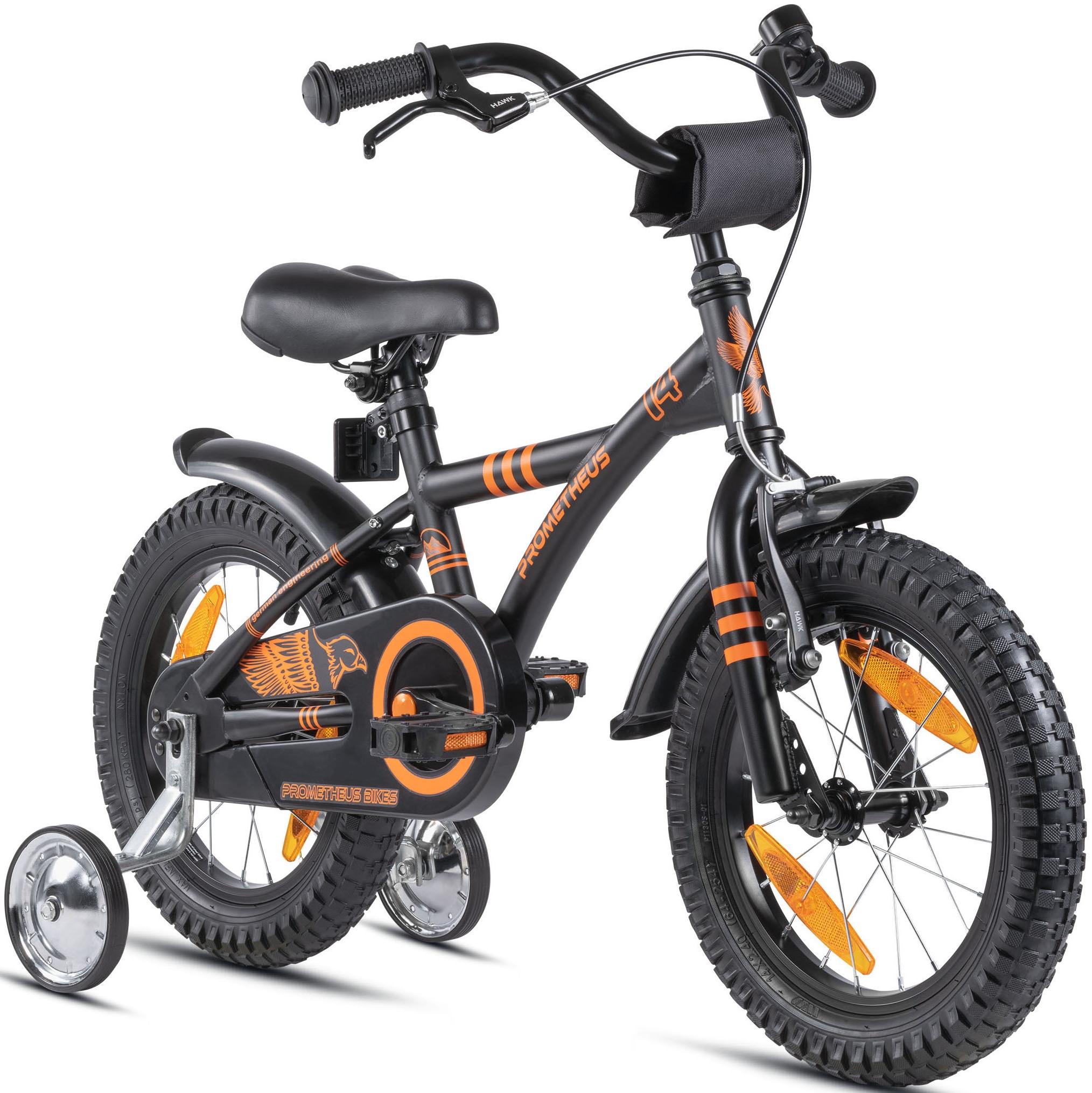 PROMETHEUS BICYCLES Kinderfahrrad Hawk, 1 Gang schwarz Kinder Kinderfahrräder Fahrräder Zubehör