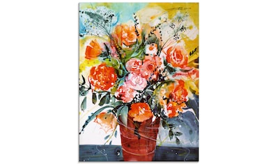 Artland Glasbild »Rosen in brauner Vase« kaufen