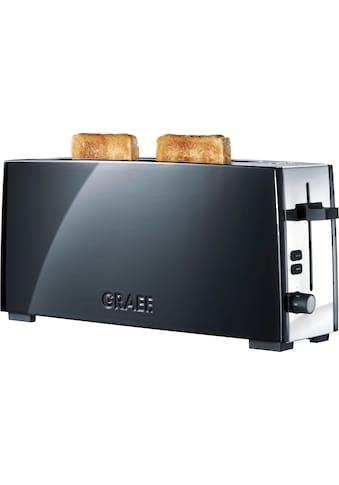 Graef Toaster »TO 92, schwarz-matt«, 1 langer Schlitz, für 2 Scheiben, 880 W kaufen