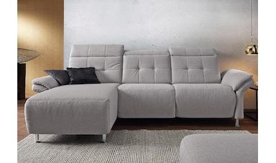 Places of Style Ecksofa »Manhattan«, 2 Sitze mit elektrischer Relaxfunktion, verstellbare Armlehnen kaufen