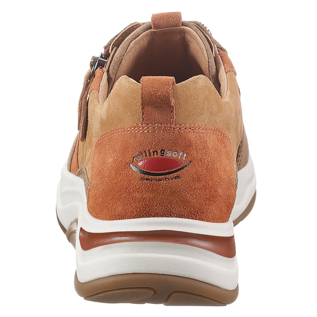 Gabor Rollingsoft Keilsneaker, im herbstlichem Farbmix