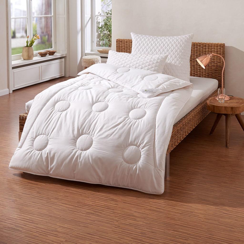 TRAUMSCHLAF Naturhaarbettdecke »Merino«, normal, Füllung 100% Schurwolle, Bezug 100% Baumwolle, (1 St.), natürlich gut schlafen