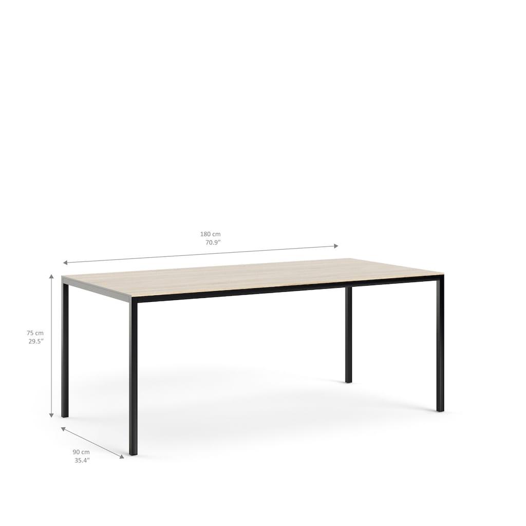 my home Esstisch »Family«, mit einer kratzfesten Melamienbeschichtung auf der Tischplatte, elegante Metallbeine