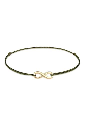Elli Armband »Infinity Unendlichkeit Nylon Bändchen 925er Silber« kaufen