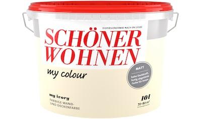 SCHÖNER WOHNEN-Kollektion Wand- und Deckenfarbe »my colour - my ivory«, matt, 10 l kaufen